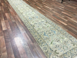 Indian Rug Hand Knotted Oriental Rug Oushak Oriental Runner Rug 2'5X15'9