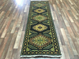 Indian Rug Hand Knotted Oriental Rug Oushak Oriental Runner Rug 2'6X7'10
