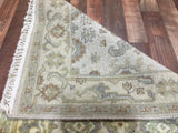 Indian Rug Hand Knotted Oriental Rug Oushak Oriental Runner Rug 2'7X16'3