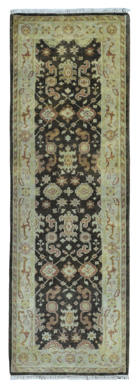 Indian Rug Hand Knotted Oriental Rug Oushak Oriental Runner Rug 2'8X8'