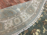 Indian Rug Hand Knotted Oriental Rug Oushak Round Oriental Rug 5'10X5'10