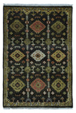 Indian Rug Hand Knotted Oriental Rug Oushak Small Oriental Rug 4'X5'9