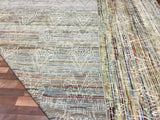 Indian Rug Hand Knotted Oriental Rug Oushak Turkish Knot Modern Design Oriental Area Rug 10'X13'10