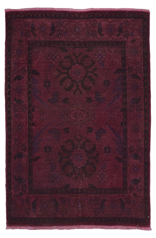 Indian Rug Hand Knotted Oriental Rug Overdye Small Oriental Rug 4'X5'10