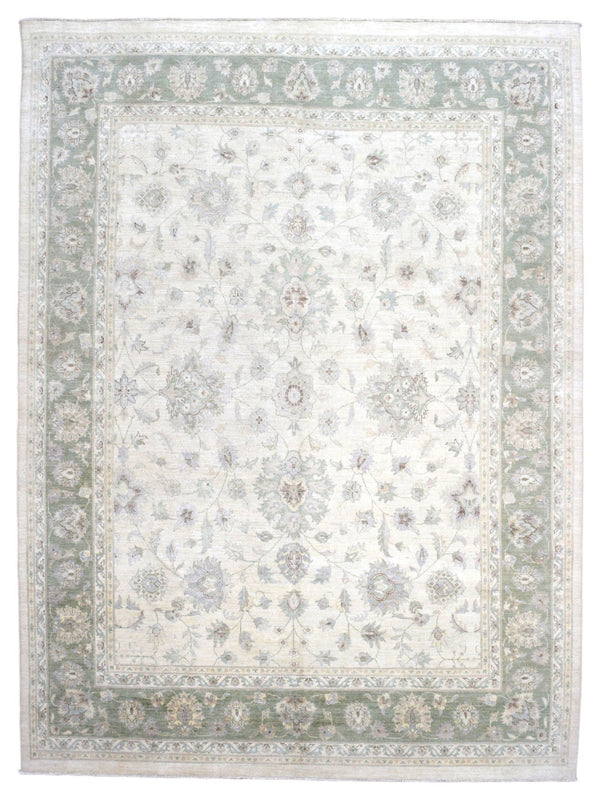 Indian Rug Hand Knotted Oriental Rug Pakistan Peshawar Large Rug 8'10X12'