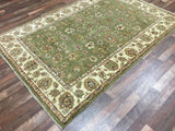Indian Rug Hand Knotted Oriental Rug Peshawar Large Rug 5'6X8'2