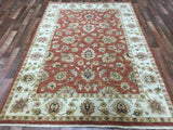 Indian Rug Hand Knotted Oriental Rug Peshawar Large Rug 5'7X8'2