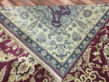 Indian Rug Hand Knotted Oriental Rug Peshawar Oriental Rug 6'X9'
