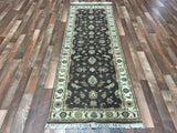 Indian Rug Hand Knotted Oriental Rug Peshawar Oriental Runner Rug 2'8X7'9