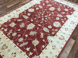 Indian Rug Hand Knotted Oriental Rug Peshawar Oriental Small Area Rug 5'5X8'5