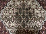Indian Rug Hand Knotted Oriental Rug Round Mahi Tabriz Oriental Rug With Silk 8'X8'