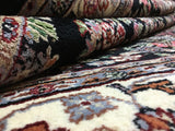 Indian Rug Hand Knotted Oriental Rug Sarouk Large Oriental Rug 6'X8'9