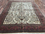 Indian Rug Hand Knotted Oriental Rug Sarouk Large Rug 9'X11'9