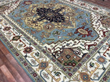 Indian Rug Hand Knotted Oriental Rug Serapi Large Oriental Rug 10'X14'
