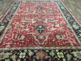 Indian Rug Hand Knotted Oriental Rug Serapi Large Oriental Rug 10X13'9