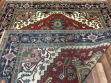 Indian Rug Hand Knotted Oriental Rug Serapi Large Oriental Rug 7'11X9'10