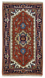 Indian Rug Hand Knotted Oriental Rug Serapi Oriental Rug 2'2X4'