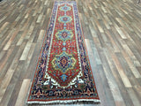 Indian Rug Hand Knotted Oriental Rug Serapi Oriental Runner Rug 2'7X12'4