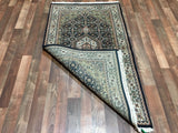 Indian Rug Hand Knotted Oriental Rug Small Bijar Oriental Area Rug 3X5