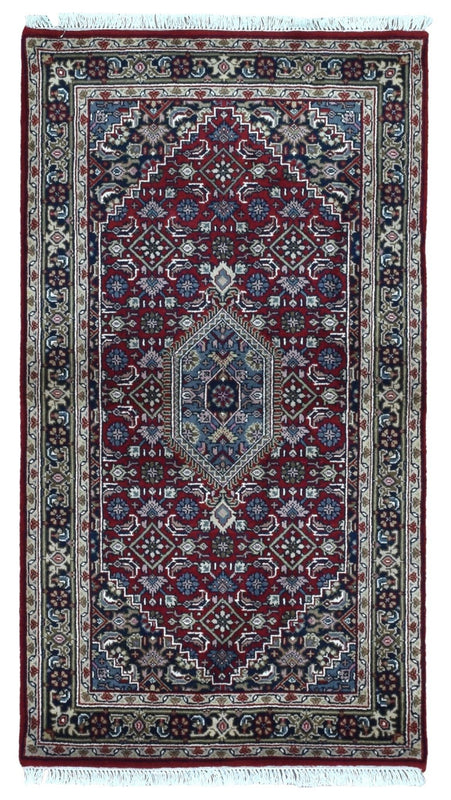 Indian Rug Hand Knotted Oriental Rug Small Bijar Oriental Rug 3'X5'5