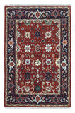 Indian Rug Hand Knotted Oriental Rug Small Mahal Oriental Rug 4'X6'1