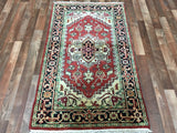 Indian Rug Hand Knotted Oriental Rug Small Rug Serapi Heriz 3X5'1