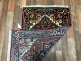 Indian Rug Hand Knotted Oriental Rug Small Serapi Oriental Rug 2'6X4'1