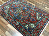 Indian Rug Hand Knotted Oriental Rug Small Serapi Oriental Rug 3'10X6'