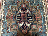Indian Rug Hand Knotted Oriental Rug Small Serapi Oriental Rug 4'X5'10