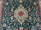 Indian Rug Hand Knotted Oriental Rug Tabriz Large Rug 5'8X9'6