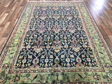 Indian Rug Hand Knotted Oriental Rug Very Fine Kashan Oriental Rug 6'1X8'10