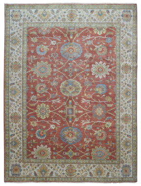 Indian Rug Hand Knotted Oriental Rug Very Fine Mahal Oriental Area Rug 9'2X11'10