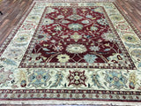Indian Rug Hand Knotted Oriental Rug Very Fine Mahal Oriental Area Rug 9'X12'1