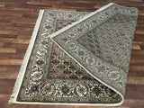 Indian Rug Hand Knotted Oriental Rug Very Fine Mahi Tabriz Oriental Rug With Silk 6'2X10'1
