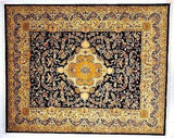 Indian Rug Hand Knotted Oriental Rug Very Fine Tabriz 7'9x9'7