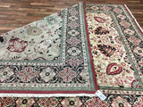 Indian Rug Hand Knotted Oriental Rug Very Fine Tabriz Oriental Large Area Rug 8'2X10'2