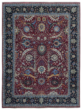 Indian Rug Hand Knotted Oriental Rug Very Fine Tabriz Oriental Rug 9'2X12'