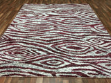 Indian Rug Hand Knotted Oriental Rug White Sari Silk Modern Large Rug 8'X9'9