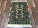 Pakistani Rug Hand Knotted Oriental Rug Royal Bukhara Small Oriental Rug 2'X3'