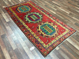 Persian Rug Hand Knotted Oriental Rug 3'10X7'7 Semi-Antique Persian Kazak Runner Rug