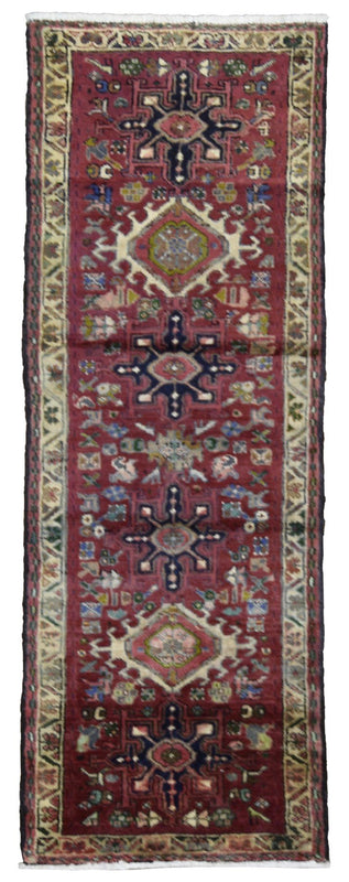 Persian Rug Hand Knotted Oriental Rug Antique Persian Hamadan Rug 2'1x6'1
