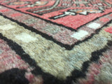 Persian Rug Hand Knotted Oriental Rug Antique Persian Hamadan Small Rug 2'5X1'7