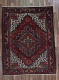 Persian Rug Hand Knotted Oriental Rug Antique Persian Heriz Rug 7X8'9
