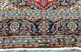 Persian Rug Hand Knotted Oriental Rug Antique Persian Kashan Rug with Signature 7'10X12'3