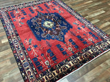 Persian Rug Hand Knotted Oriental Rug Antique Persian Rug Hamadan 5'4X7