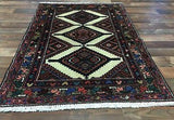 Persian Rug Hand Knotted Oriental Rug Antique Rug Persian Hamadan 2'1X4