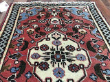 Persian Rug Hand Knotted Oriental Rug Antique Rug Persian Hamadan 3X1'10