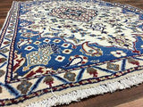 Persian Rug Hand Knotted Oriental Rug Fine Persian Rug NAIN 2'9X4'4