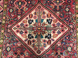 Persian Rug Hand Knotted Oriental Rug Fine Semi-Antique Persian Hamadan Oriental Rug 4'11x9'4
