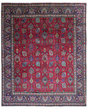 Persian Rug Hand Knotted Oriental Rug Large Persian Tabriz Rug 9'6X11'4